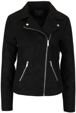 Čierna koženková bunda v semišovej úprave Dorothy Perkins 74912ae23f3