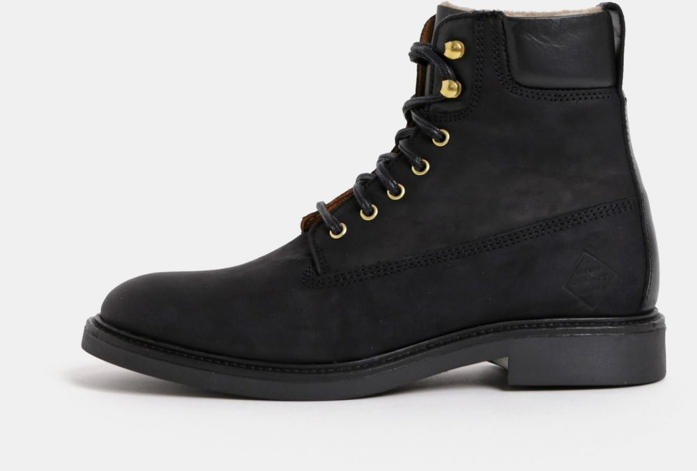 0bc57d14e28d Čierne dámske kožené členkové zimné topánky GANT značky Gant - Lovely.sk