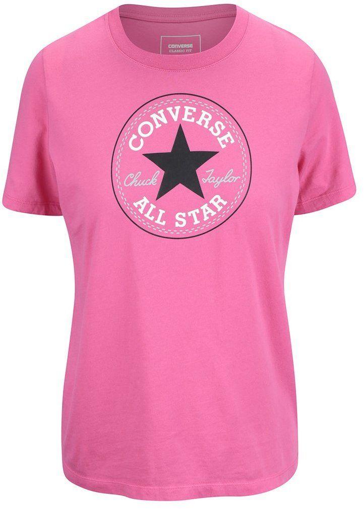9d12c3af85fc Ružové dámske tričko s logom Converse značky Converse - Lovely.sk