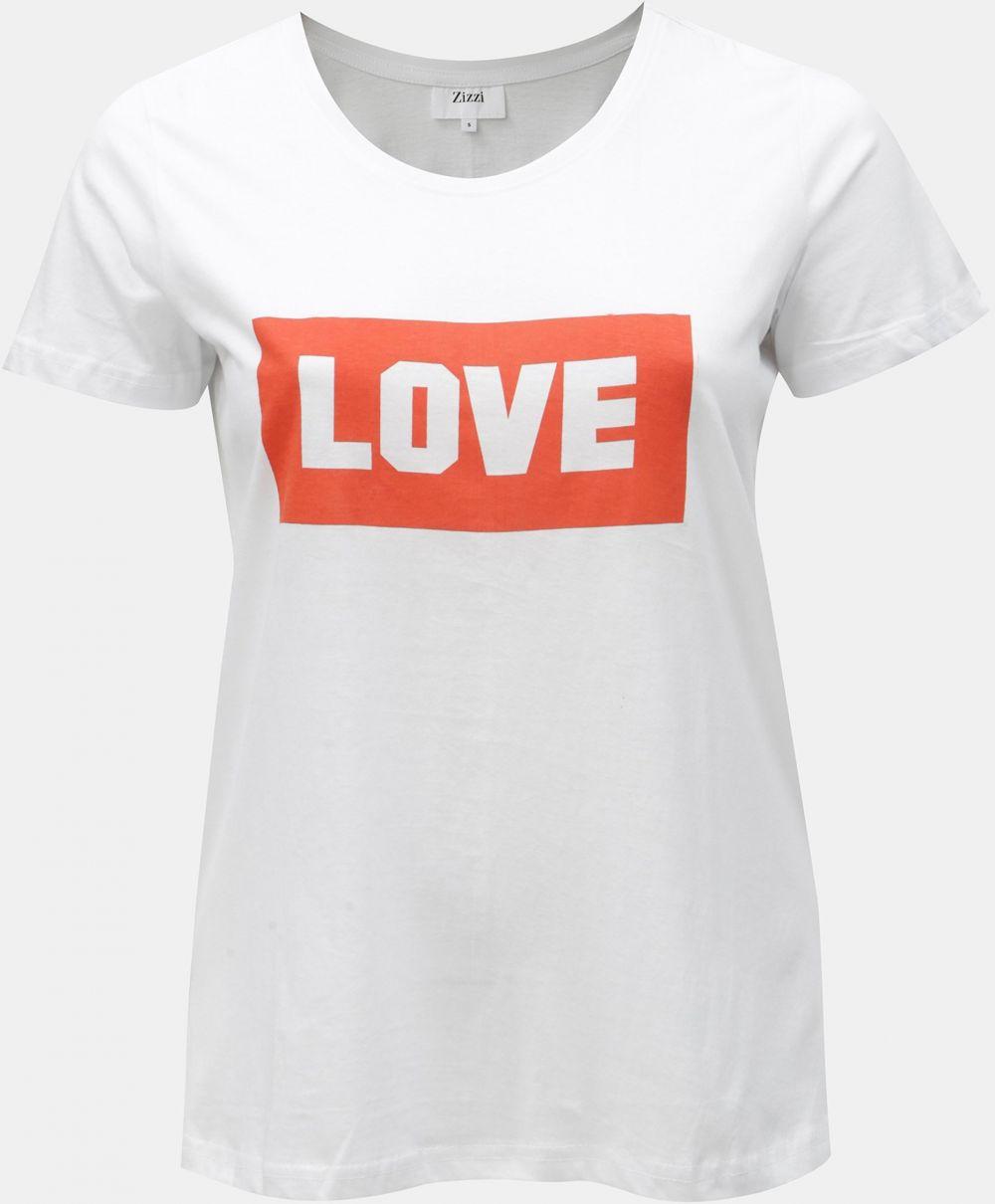 7779420ec84c Biele tričko s potlačou Zizzi značky Zizzi - Lovely.sk
