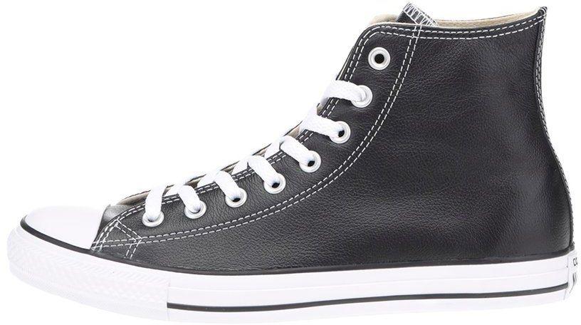 Čierne kožené unisex členkové tenisky Converse Chuck Taylor All Star značky  Converse - Lovely.sk 28171badc68