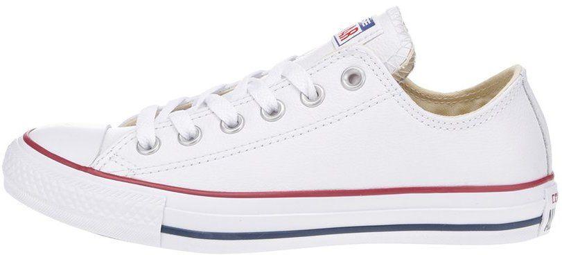 dc5cf5cdcf0b9 Biele unisex kožené tenisky Converse Chuck Taylor All Star značky Converse  - Lovely.sk