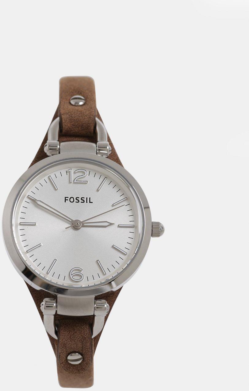 Hnedé dámske hodinky s koženým remienkom Fossil Georgia značky Fossil -  Lovely.sk 34472cefa90