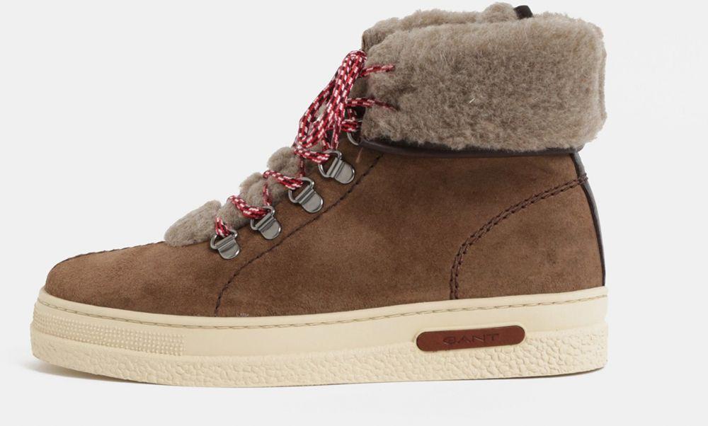 315469afda Dámske kožené členkové zimné topánky GANT značky Gant - Lovely.sk