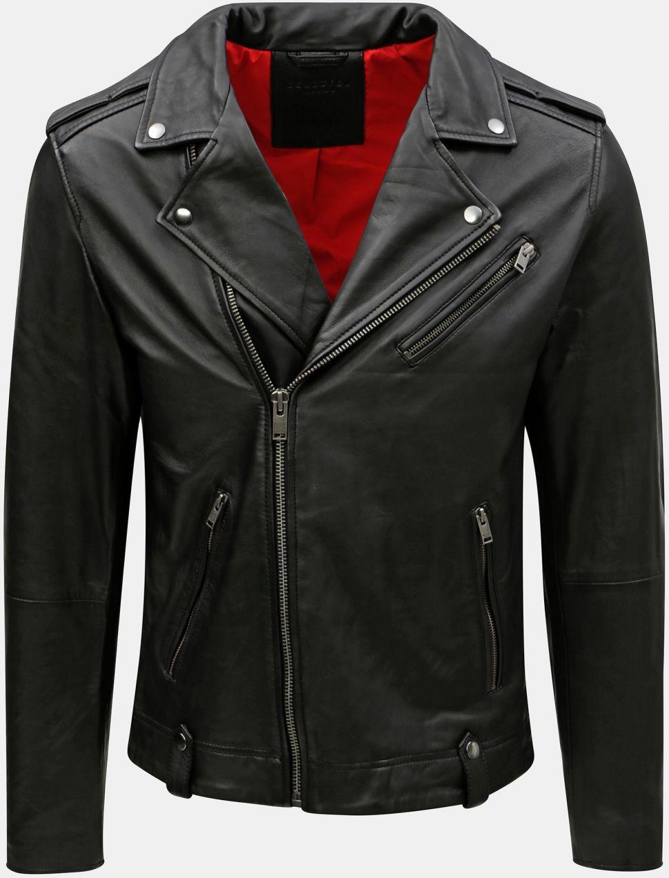 d795494c1b7a Čierna kožená bunda Selected Homme značky Selected Homme - Lovely.sk
