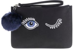 Čierna listová kabelka s výšivkou Miss Selfridge 93cb4ad0587