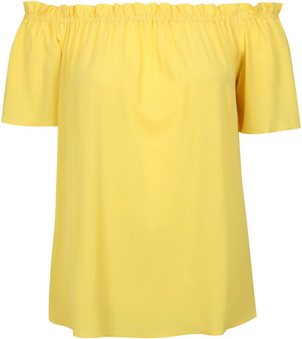 6a7224eb0a68 Žltá blúzka so spadnutými ramenami Dorothy Perkins Curve značky ...