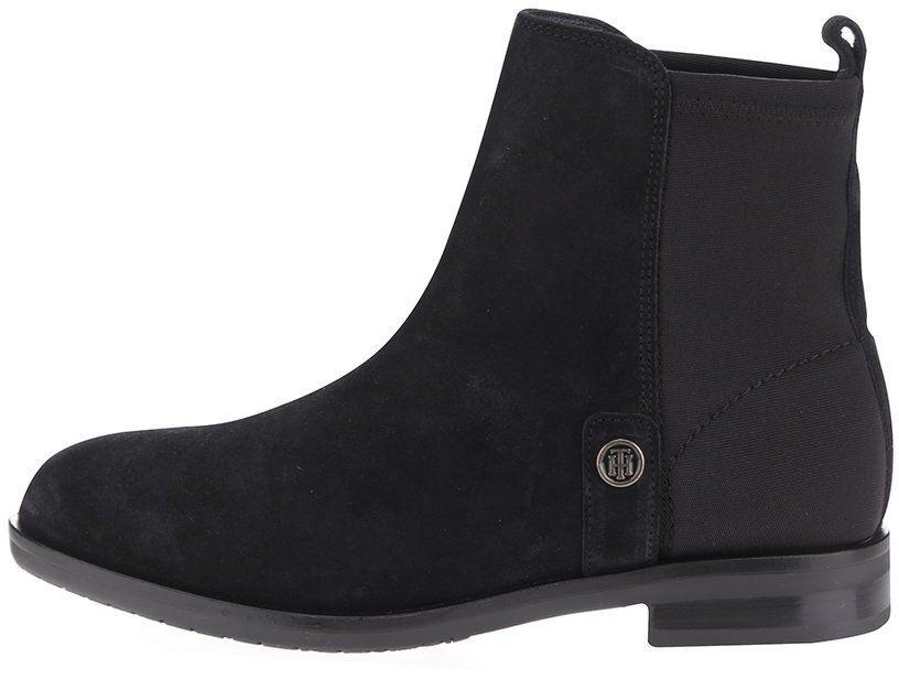 7ee337f02 Čierne dámske semišové chelsea topánky Tommy Hilfiger značky Tommy Hilfiger  - Lovely.sk
