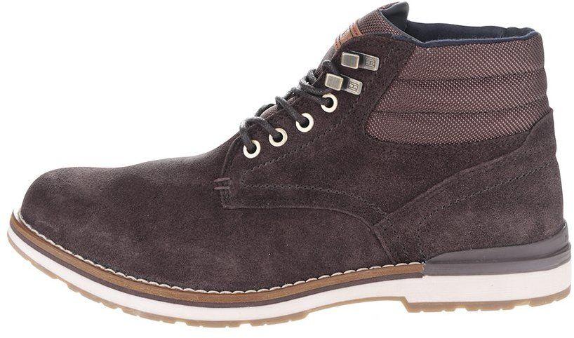 569899b66 Tmavohnedé pánske semišové členkové topánky Tommy Hilfiger značky Tommy  Hilfiger - Lovely.sk