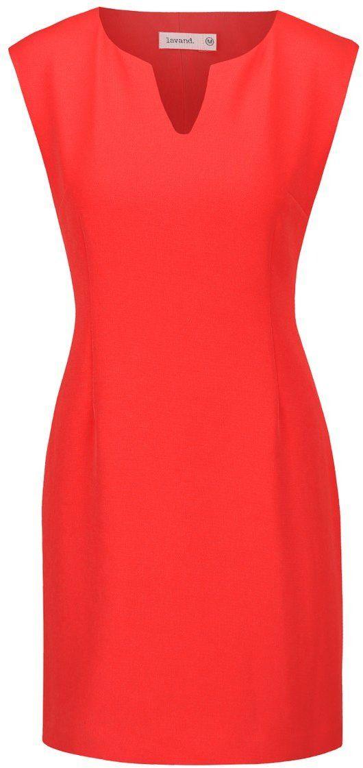 1d5cdbdda7 Červené puzdrové šaty Lavand značky Lavand - Lovely.sk
