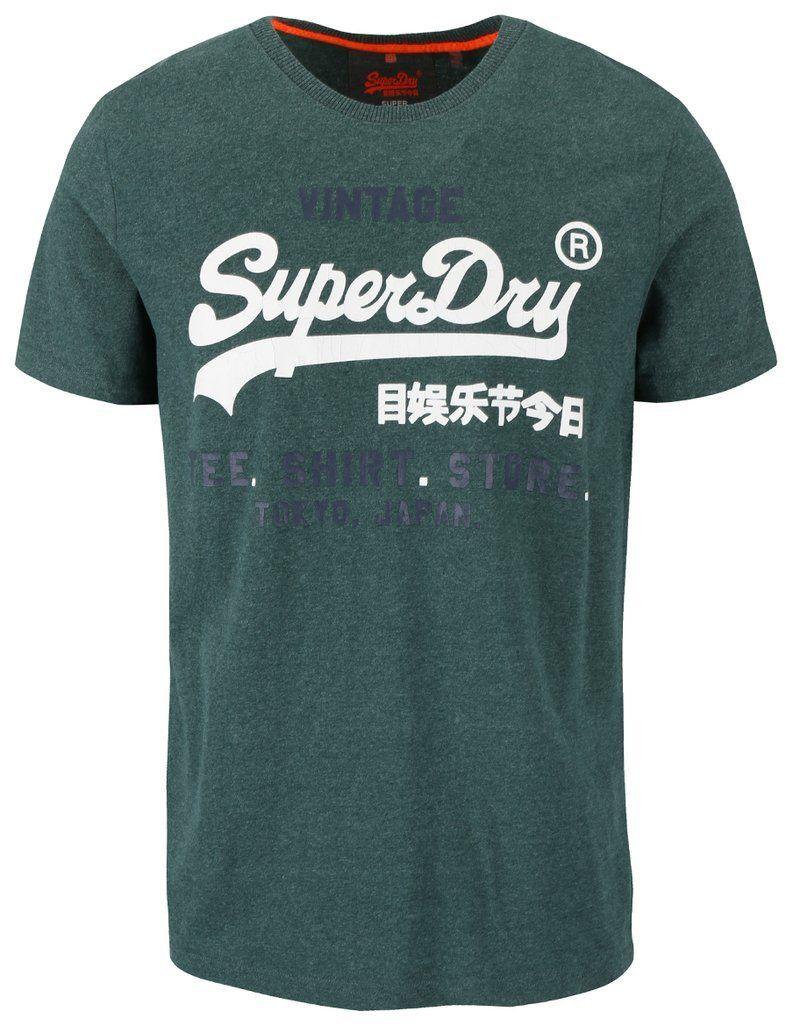 47caebb61391b Zelené pánske tričko s nápisom Superdry značky SuperDry - Lovely.sk