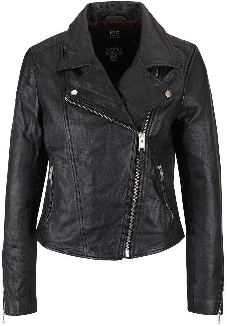 642e7b77cc40 Čierna dámska kožená bunda Superdry značky SuperDry - Lovely.sk
