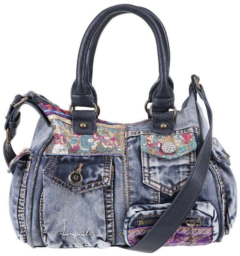 0908950b77 Modrá rifľová kabelka s vreckami Desigual London značky Desigual - Lovely.sk