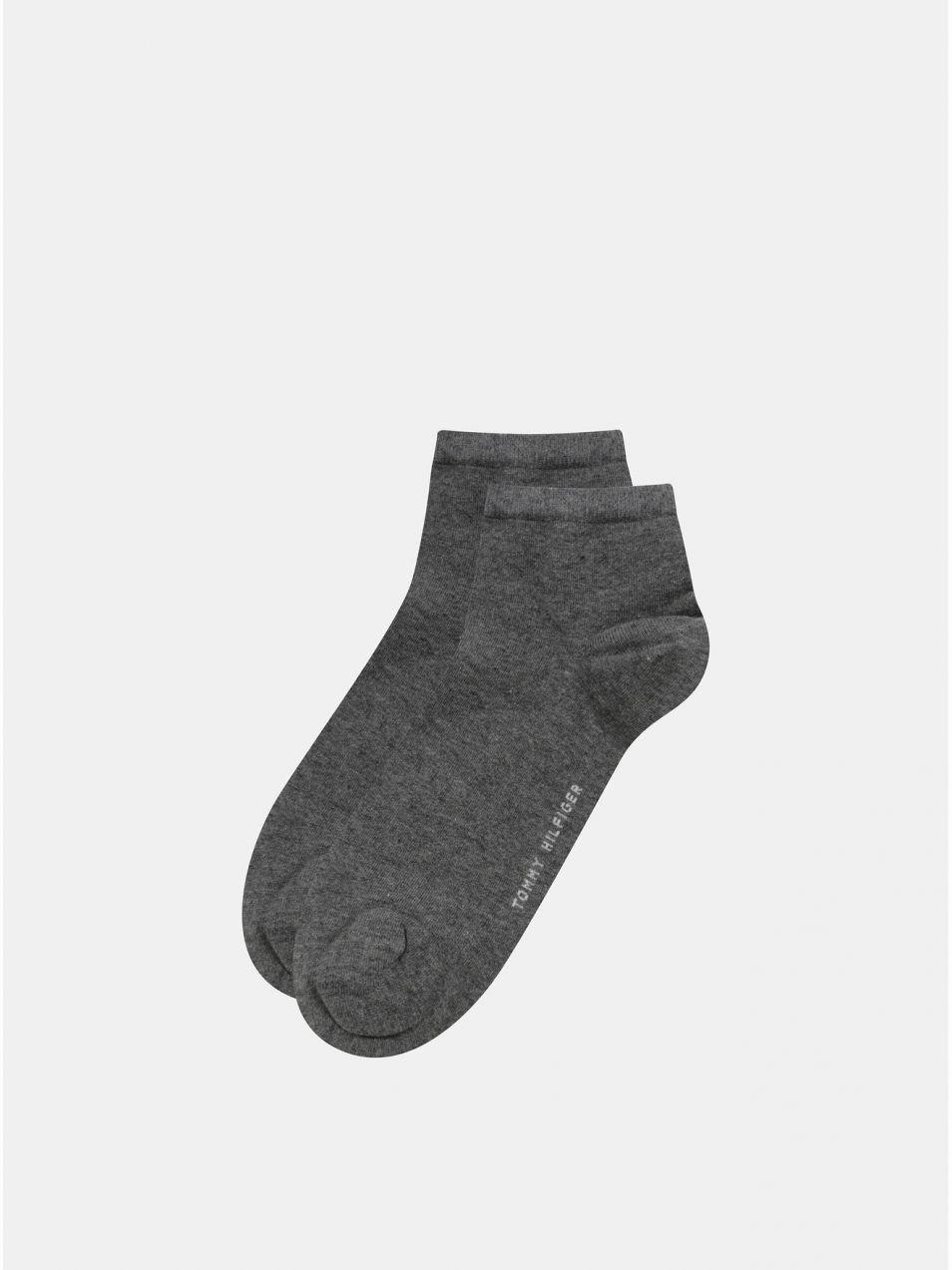 Balenie dvoch párov dámskych členkových ponožiek v sivej farbe Tommy  Hilfiger c97d0b61c95