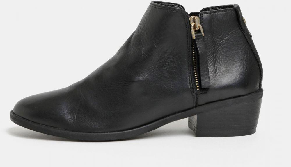ecc5e5085 Čierne dámske kožené členkové topánky ALDO Veradia značky ALDO - Lovely.sk