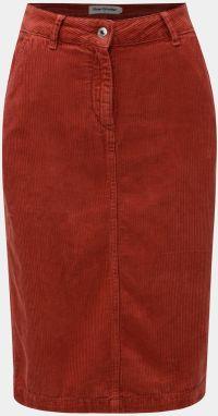 418d5b9f8c52 Hnedá koženková puzdrová sukňa s rozparkom Dorothy Perkins značky ...