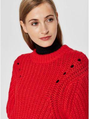 d81320c3a772 Červený oversize sveter s prímesou vlny Selected Femme Ginna značky ...