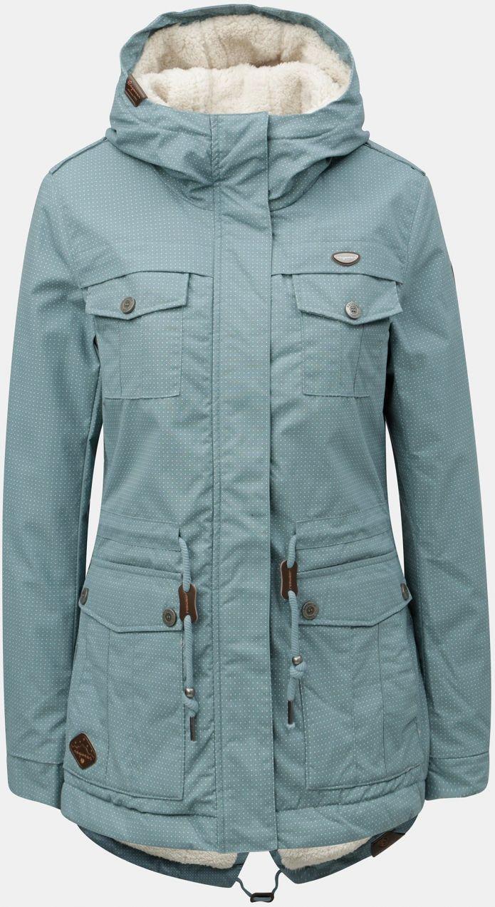 Modrá dámska zimná parka s kapucňou Ragwear značky Ragwear - Lovely.sk 652cac8de72