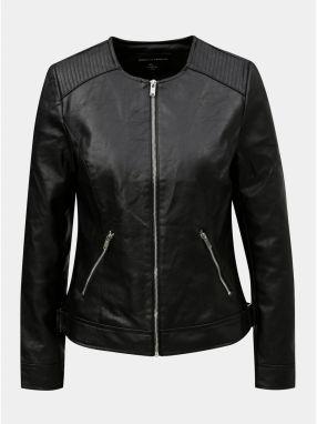 Čierna koženková bunda s vnútornou umelou kožušinkou Dorothy Perkins ... e0c22bed50c