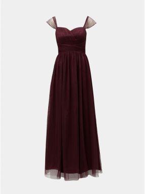 Vínové čipkované šaty s krátkym rukávom ONLY Shira značky ONLY ... aa3cf041c9a