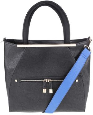 Čierna kabelka so zlatými detailmi Miss Selfridge e4a6f3eee7d