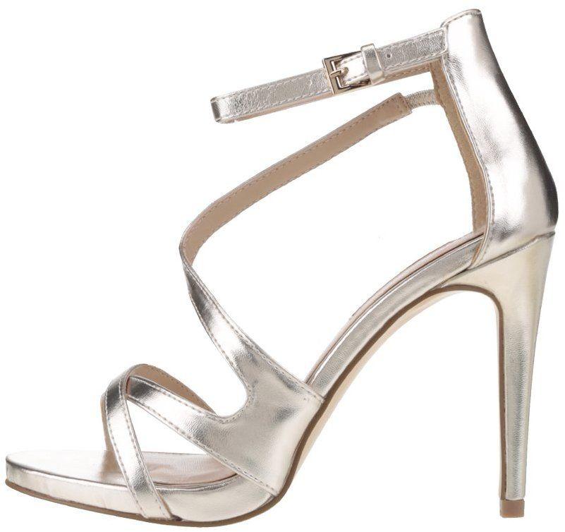 1a5f40fee4f2 Metalické sandálky v zlatej farbe na ihličkovom podpätku Miss Selfridge  značky Miss Selfridge - Lovely.sk