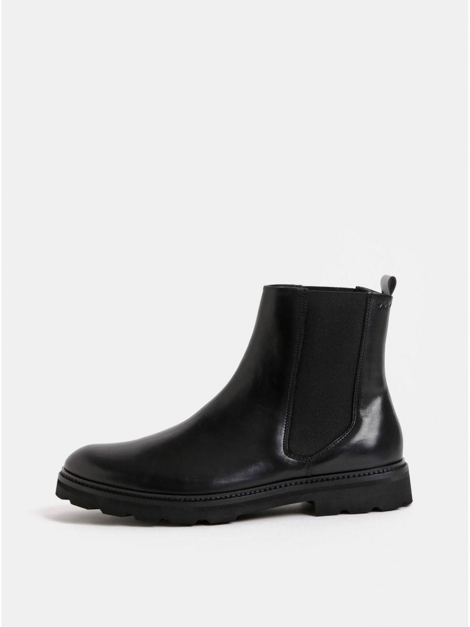 58d90821fff6 Čierne pánske kožené chelsea topánky Royal RepubliQ značky Royal ...