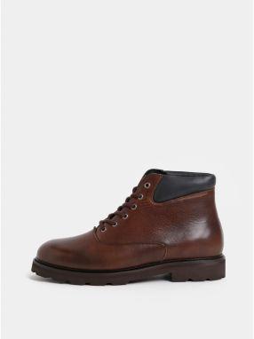 8bfd85d2bdf9 Tmavohnedé pánske kožené členkové topánky Royal RepubliQ