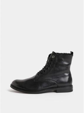 Čierne pánske kožené členkové zimné topánky Royal RepubliQ e91330360b0