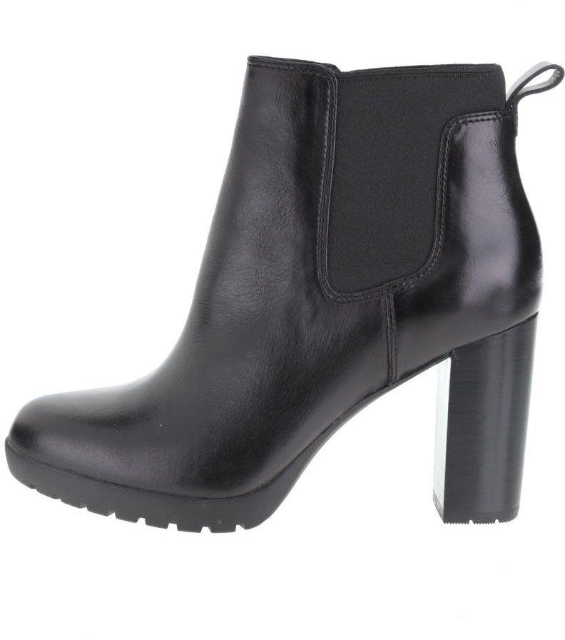 a59848ee5119 Čierne dámske kožené členkové topánky Clarks Elipsa Dee značky Clarks -  Lovely.sk