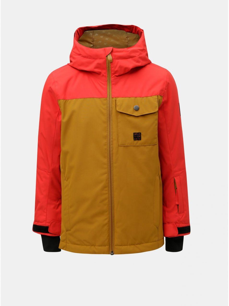 084261b46 Červeno–hnedá chlapčenská funkčná zimná bunda Quiksilver Miss Solyth značky  Quiksilver - Lovely.sk