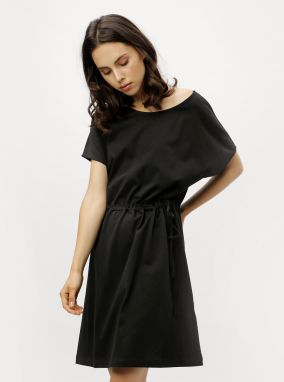 Čierne dlhé asymetrické šaty s krátkym rukávom ZOOT značky ZOOT ... 12ca92cdcf6