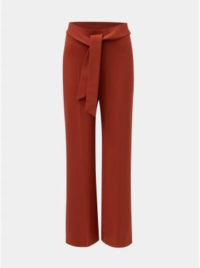 987de28ba84b Tehlové voľné nohavice s vysokým pásom a zaväzovaním Miss Selfridge