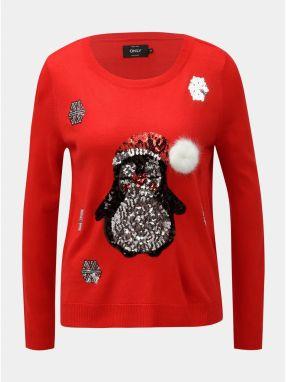 d2b2e6960e60 Červený sveter ONLY Geena značky ONLY - Lovely.sk