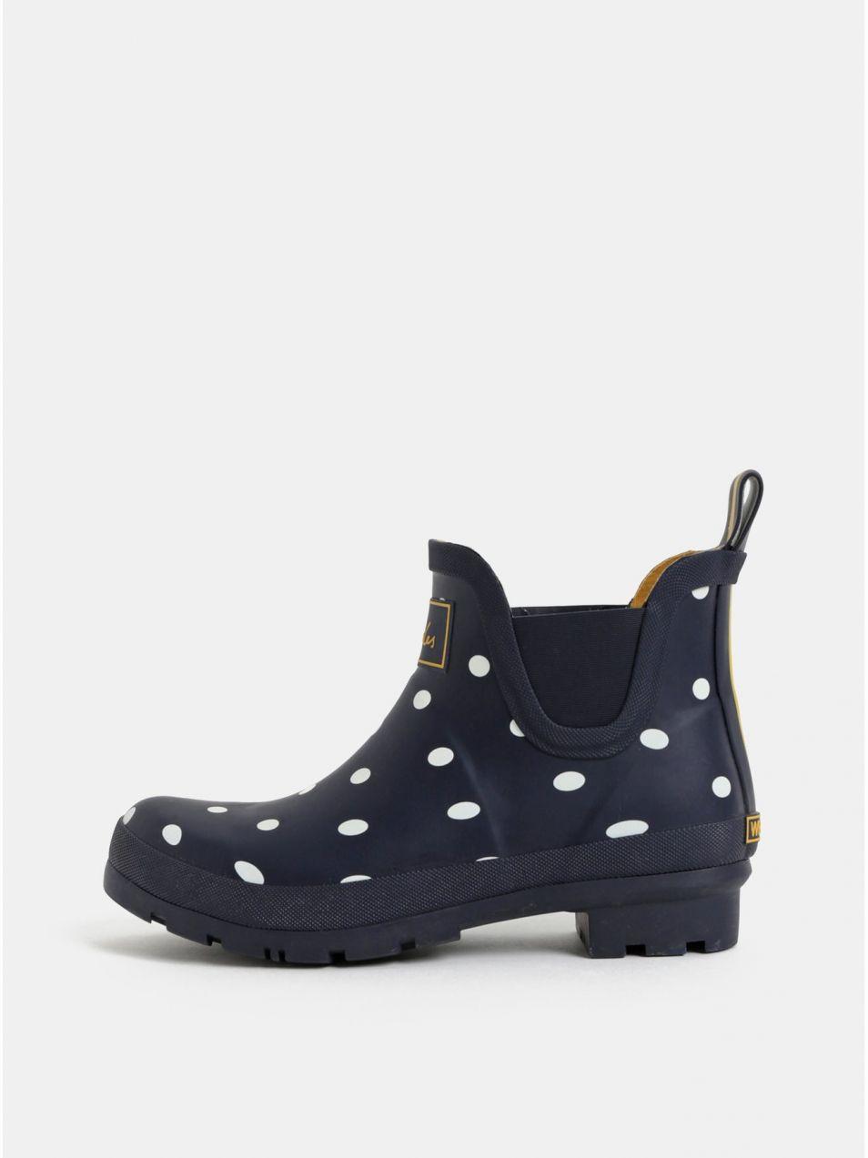 78977bf5c1a2d Tmavomodré dámske bodkované gumové chelsea topánky Tom Joule Wellibobs  značky Tom Joule - Lovely.sk