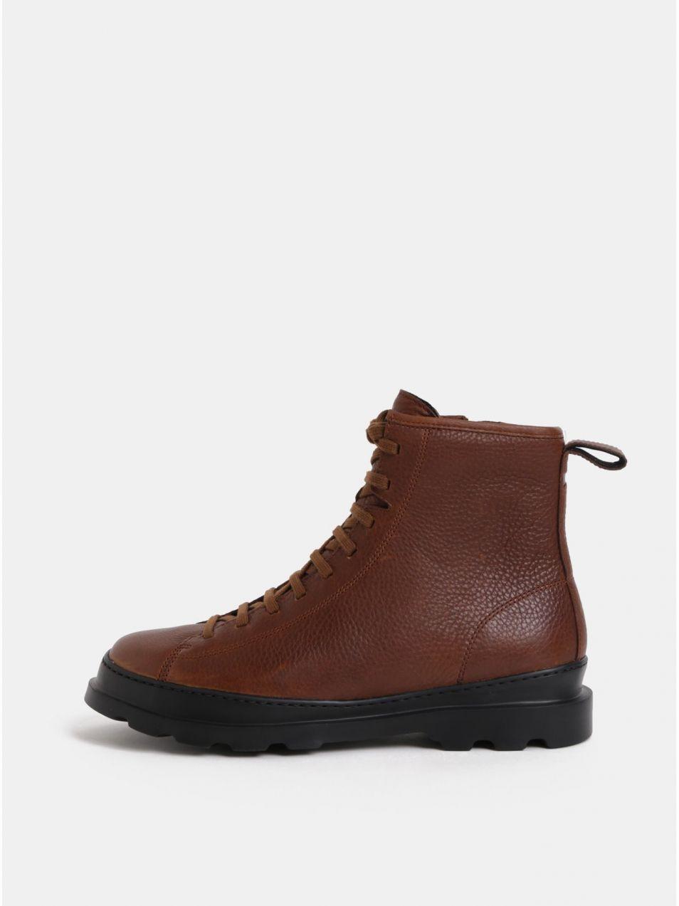 Hnedé pánske kožené členkové topánky Camper Brutus značky Camper - Lovely.sk b64de3550b5