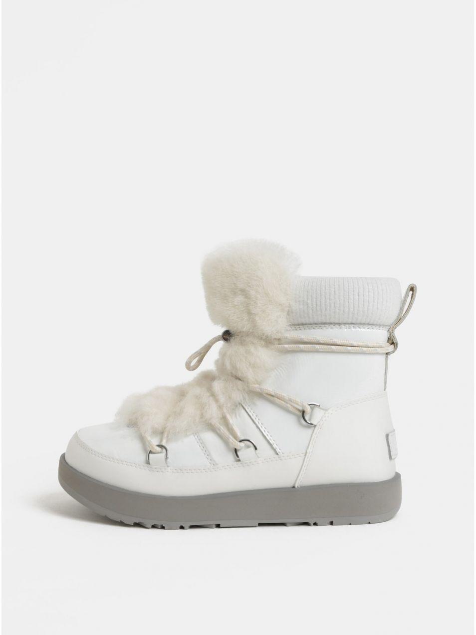634704e5948f Biele nepremokavé kožené zimné topánky s kožušinkou UGG Highland značky UGG  - Lovely.sk