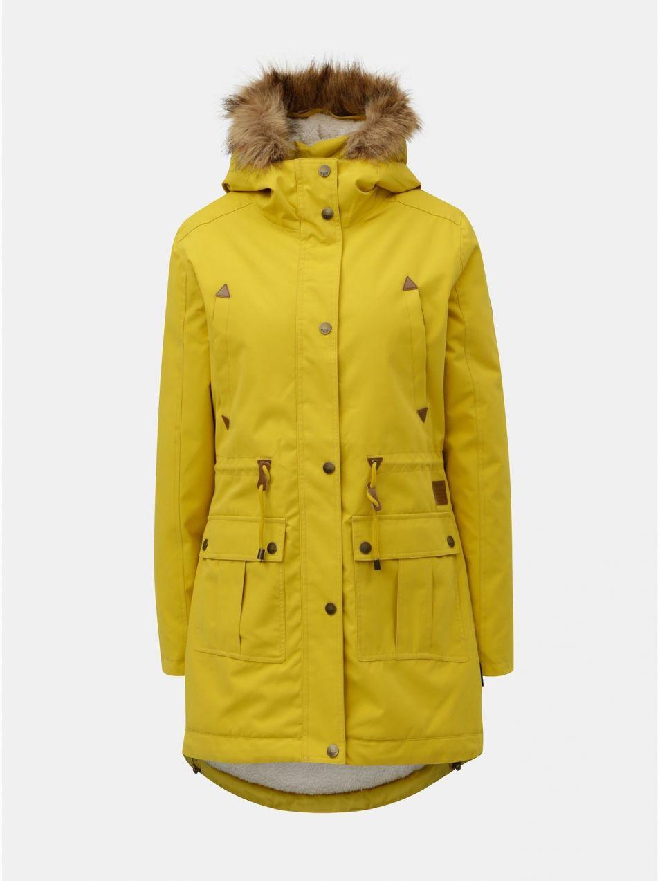Žltá dámska zimná parka s vnútornou umelou kožušinkou Meatfly Rainy značky  Meatfly - Lovely.sk 97c91209dc3