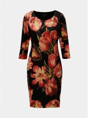 Čierne kvetované šaty s riasením v páse Smashed Lemon značky Smashed ... d8a2477f013