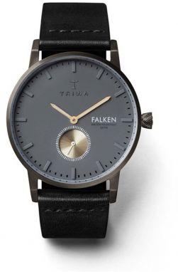 Hodinky s čiernym koženým remienkom TRIWA Walter Falken 4299237cdb2