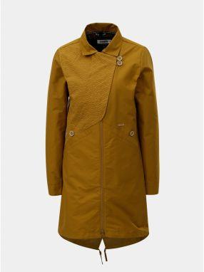 Horčicový dámsky kabát s odnímateľnou vnútornou tenkou vzorovanou bundou  2v1 Maloja Sottoponte 768d7f71cdf