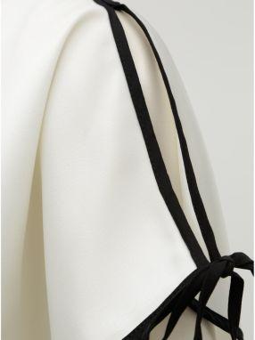 c922e3de74b4 Krémová blúzka s prestrihom na rukávoch DKNY značky DKNY - Lovely.sk