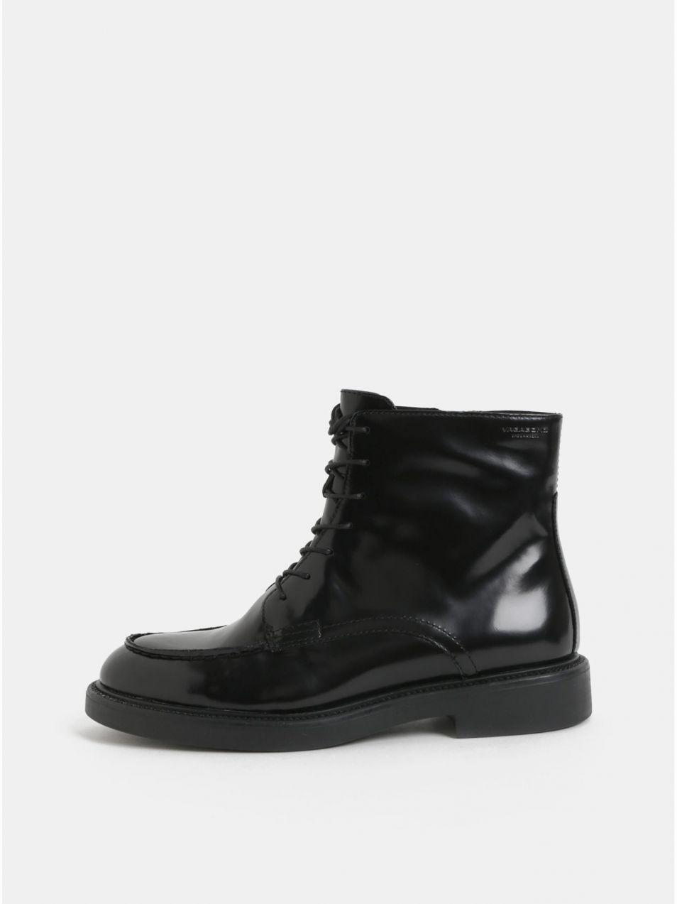 a91ddd326aee Čierne dámske kožené členkové topánky so šnurovaním Vagabond Alex značky  Vagabond - Lovely.sk
