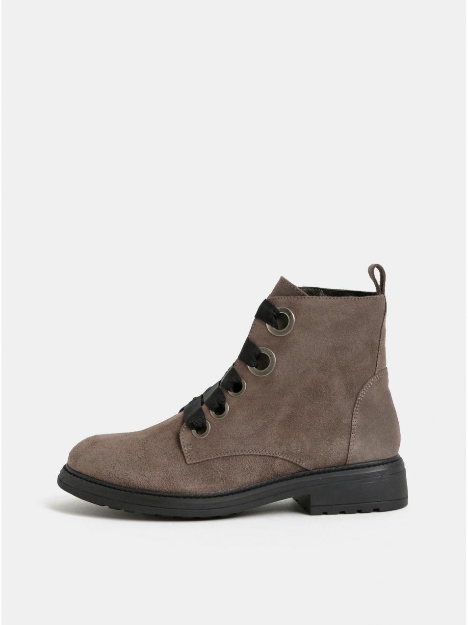 c0a49f7fa99b Béžové semišové členkové topánky OJJU značky OJJU - Lovely.sk