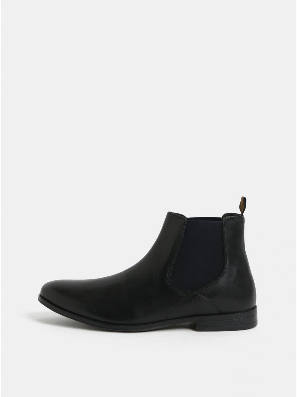 64fa1d7b4 Čierne pánske kožené chelsea topánky Burton Menswear London Rafferty značky Burton  Menswear London - Lovely.sk