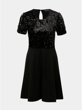 3a2b89aecdd8 Čierne šaty s flitrami a prestrihom Dorothy Perkins