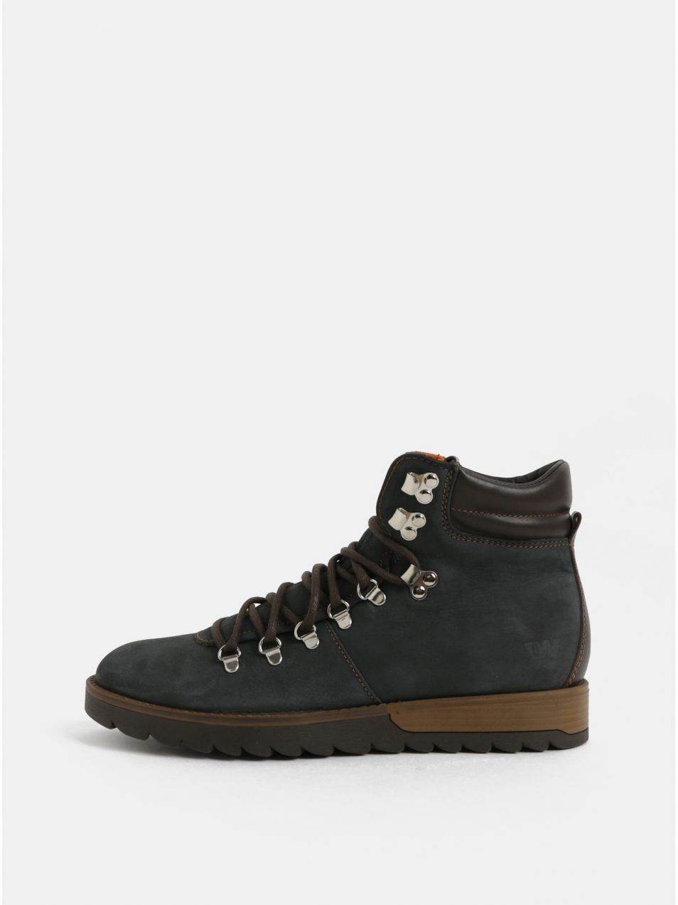 Tmavomodré pánske kožené členkové topánky Weinbrenner značky ... ee3897f3637