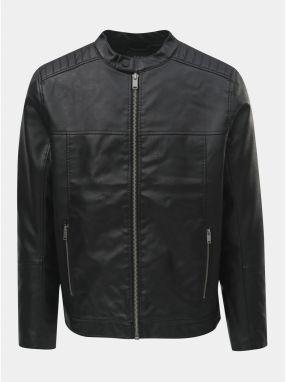 a3b9285657b7 Čierna koženková bunda Burton Menswear London Racer
