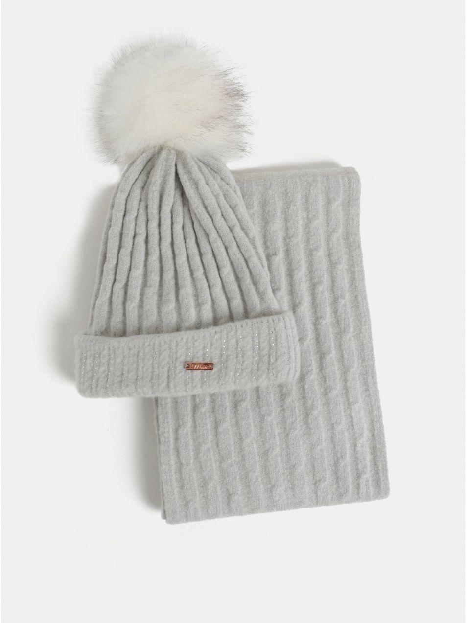 2844cf76b Darčekové balenie čiapky a šálu v sivej farbe Something Special značky  Something Special - Lovely.sk