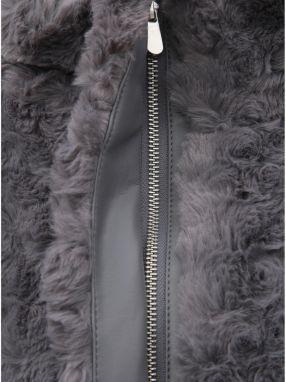 Sivý krátky kabát z umelej kožušinky Dorothy Perkins značky Dorothy ... 68fb9ffa536